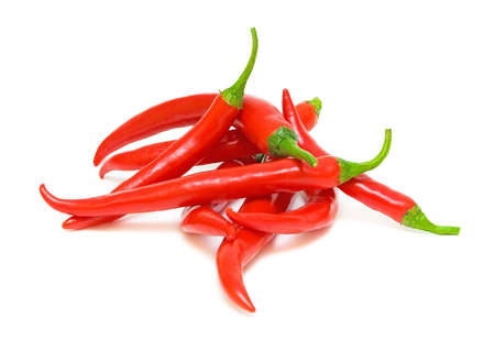 red hot chili pepper isolated on a white background