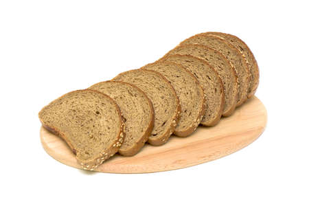 food. loaf of bread isolated on white close-up photo