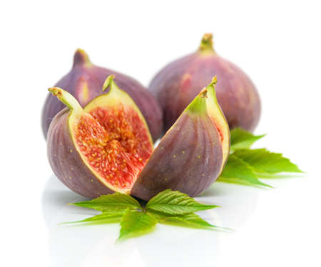 juicy ripe figs isolated on a white background close-up