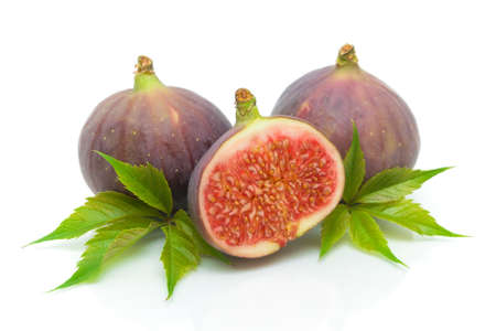 ripe figs isolated on a white background close-up