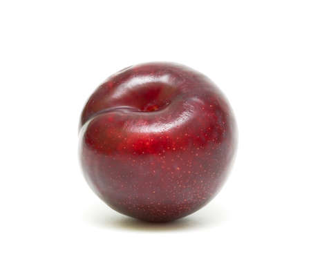 juicy ripe plum isolated on a white background close-up Stock Photo