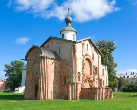 Church of St. Parasceva on the Marketplace, 1207 - Yaroslavs Courtyard and the Former Marketplace (Veliky Novgorod, Russia) Stock Photo - 16604247