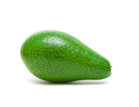 avocado isolated on white background close-up. side view. Stock Photo - 18561725