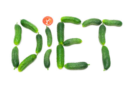 word diet of fresh cucumbers   photo