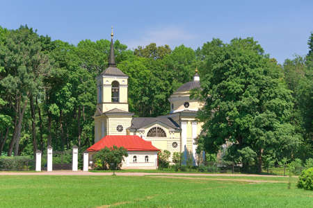 Russia. The Orel area. Village Spassky-lutovinovo. Memorial estate of great Russian writer Ivan Turgenev. Church.