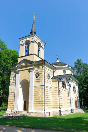 Russia. The Orel area. Village Spassky-lutovinovo. Church. Memorial estate of great Russian writer Ivan Turgenev. photo