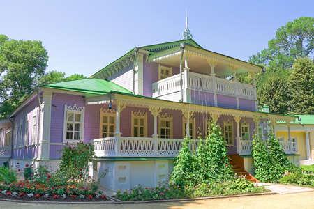 spassky: house in the estate Spassky-Lutovinovo  Russia  Orel region