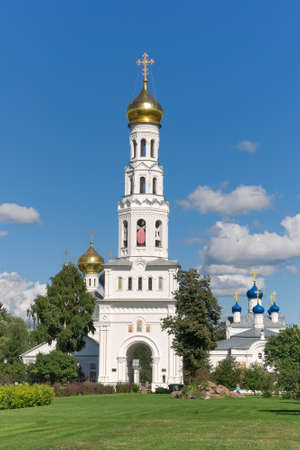 Russia, Tver region. Temple complex in the village of Zavidovo.