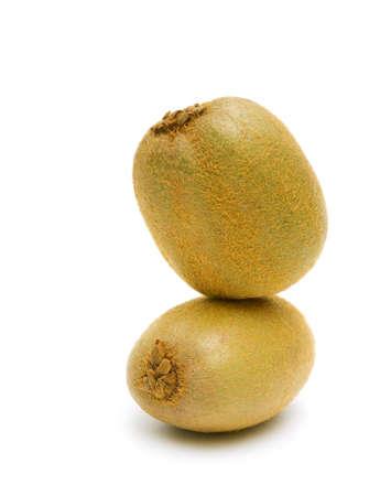ripe kiwi fruit closeup isolated on a white background. vertical photo. Stock Photo - 22520331