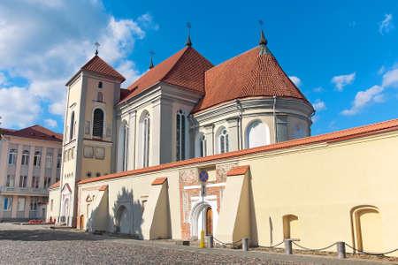 kaunas: Lithuania: Old church in Kaunas. horizontal photo.