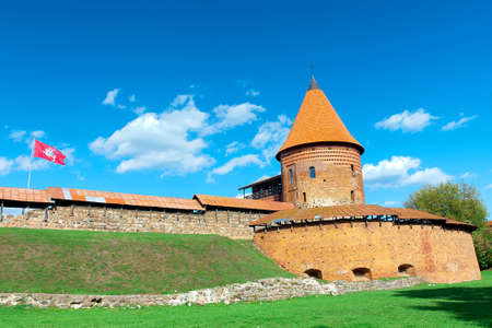 kaunas: Kaunas, Lithuania - 18 September 2015: The old fortress. Horizontal photo.