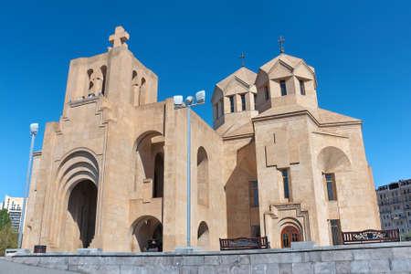 Armenia. Yerevan. Saint Gregory the Illuminator Cathedral. horizontal photo. Stock Photo