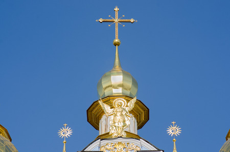 Golden domes of the Cathedral of the Christian Ukraine