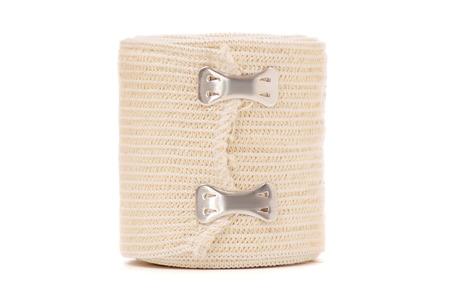 roll of elastic bandage on white background isolation