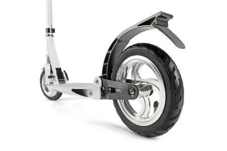 White scooter photo on white background isolation