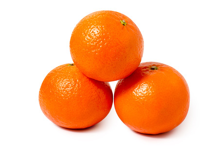 Mandarins oranges isolated on white background isolation