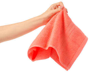 Towel hand wipe on white background isolation