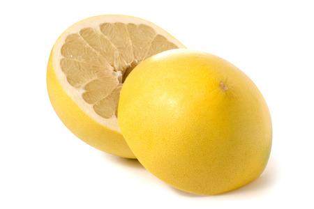 Pamela fresh fruit on white background isolation Stock Photo