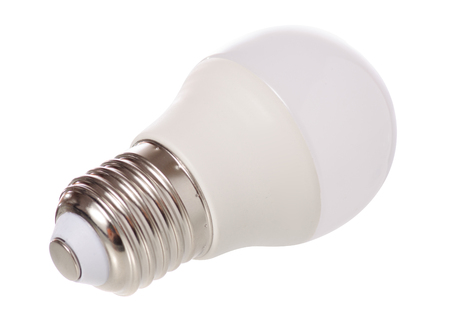 Led lamp energy on white background isolation Banco de Imagens