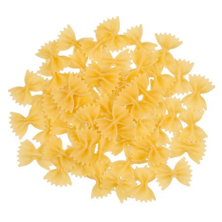Macaroni bows on a white background isolation