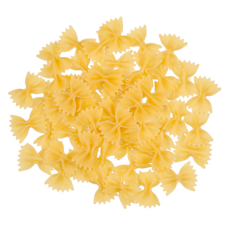 Macaroni bows on a white background isolation