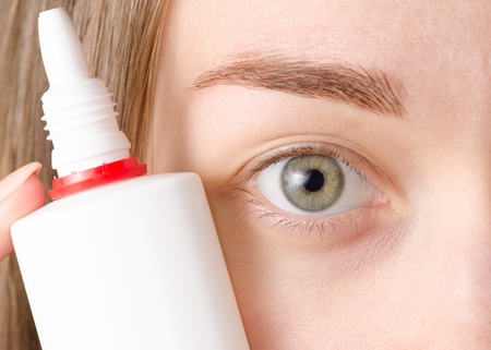 Female eye drops for the eyes of medicine health macro