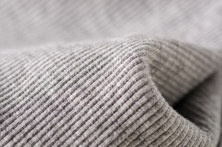 Gray fabric clothing texture textile fabric macro Stock Photo