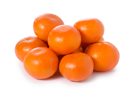 Mandarines tangerine citrus on white background isolation