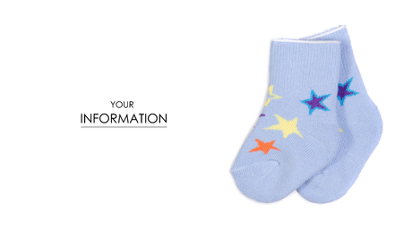ee5e11a0ac739 Baby blue socks pattern on white background isolation