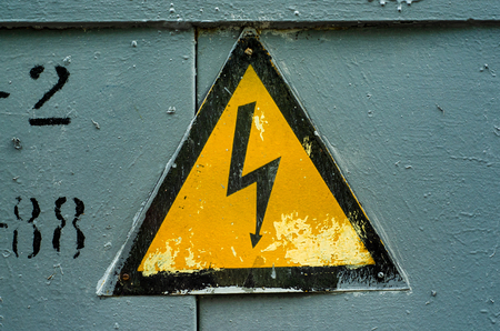 Electrical Sign symbol power industry danger risk