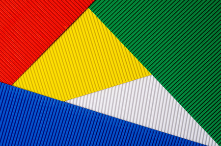 Cardboard paper multicolored background red blue green white yellow