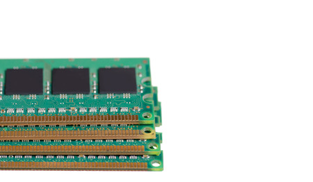 Computer memory PC on white background isolation