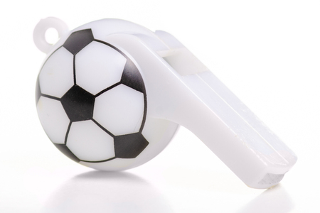 Football whistle sport on a white background. Isolation 写真素材