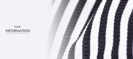 Fabric clothing black and white strip pattern on blur background