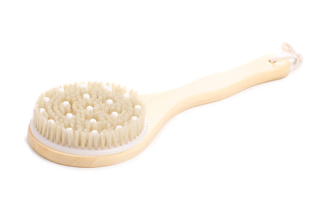 The brush from cellulite isolated on a white background. Imagens