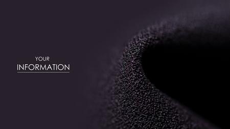 Black fabric material texture macro pattern blur background