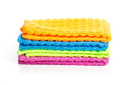 Colorful rag clothes isolated on a white background.