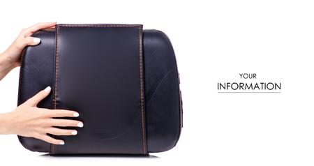 Leather massage cushion pattern isolated on white background.