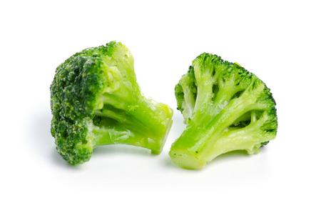 Frozen broccoli food isolated on a white background Zdjęcie Seryjne