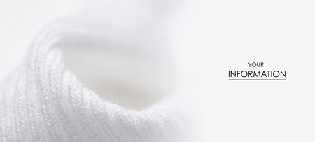 Fabric warm white sweater textile material texture pattern blur background macro