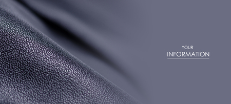 Black leather fabric textile material texture pattern macro blur background