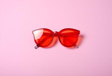 Flat lay. Sunglasses fashion
