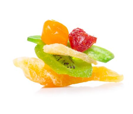 Pile candied dried tropical fruits