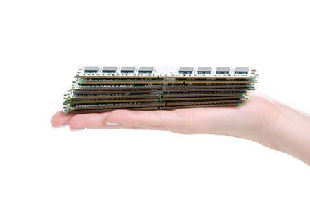RAM in hand Stock Photo