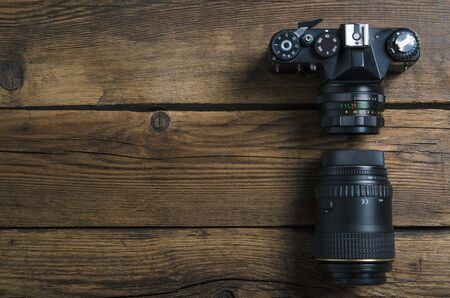 Old photo camera 免版税图像