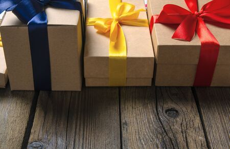 Boxes with ribbon bow gift