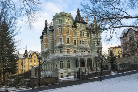 karlovy: Fabulous beautiful homes. Karlovy Vary. Czech Republic Stock Photo