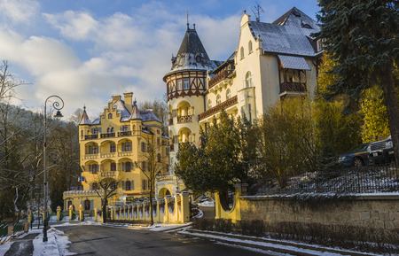 karlovy: Fabulous beautiful homes. Karlovy Vary. Czech Republic Stock Photo