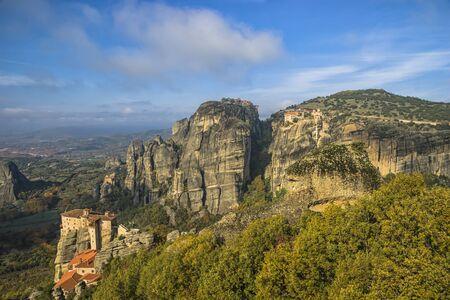 kalampaka: Monasteries of Meteora in Greece. Stock Photo