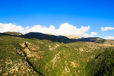 View landscape of the mountainous area of Upper Galilee